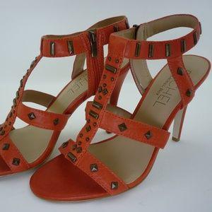 RACHEL Rachel Roy NWB Orange Gladiator Heels 10.5M